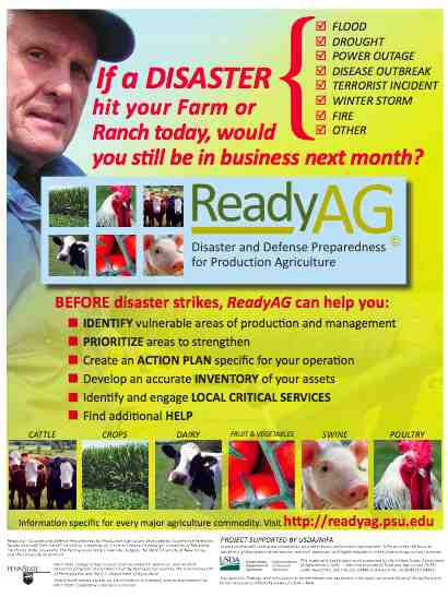 Ready Ag - business continuity planning for farmers and ranches