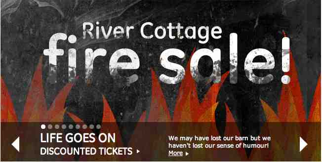 fire sale at river cottage - business continuity lessons learned