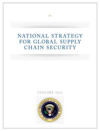 US national strategy for supply chain for business continuity