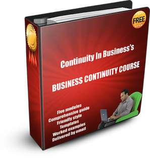 Get our free business continuity course by email to download - just subscribe for free