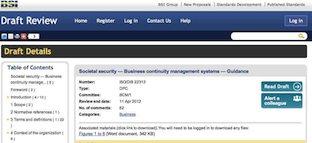 bsi draft ISO22313