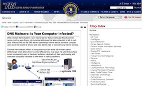 FBI warning re internet access for business continuity planners